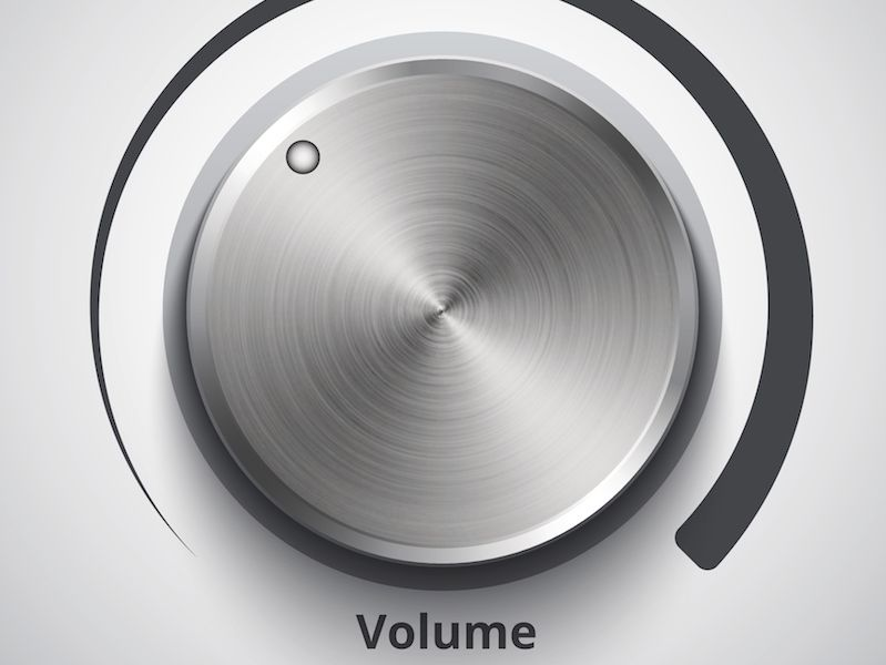 Volume knob set to a safe level that won't harm your hearing.